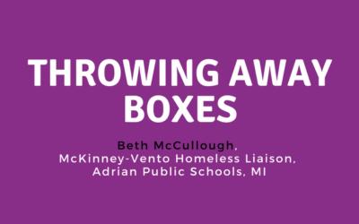 Throwing Away Boxes