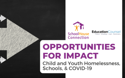 Opportunities for Impact: Child and Youth Homelessness, Schools, and COVID-19
